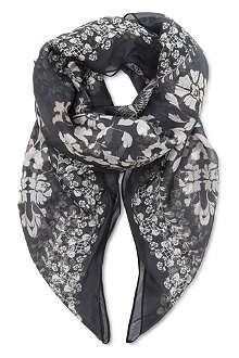 THE KOOPLES Printed silk scarf