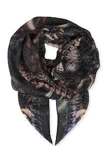 THE KOOPLES Neon Tiger scarf