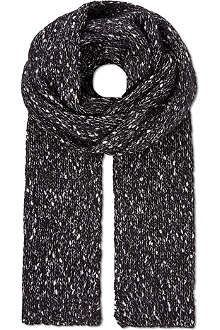 THE KOOPLES Fantasy tweed-effect scarf