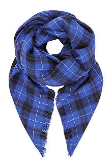 THE KOOPLES SPORT Tartan wool-blend scarf