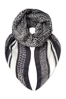 THE KOOPLES Crocodile print scarf