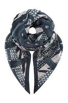 THE KOOPLES Printed modal scarf