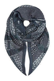 THE KOOPLES Skull & houndstooth scarf