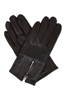 THE KOOPLES Biker-style leather gloves