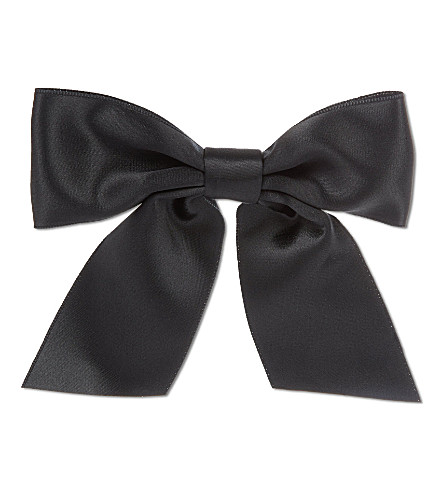 THE KOOPLES Satin bow (Black