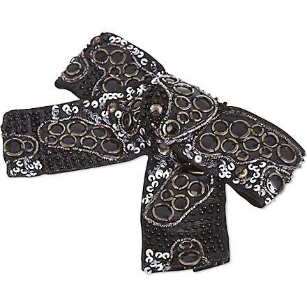THE KOOPLES Embellished bow (Black