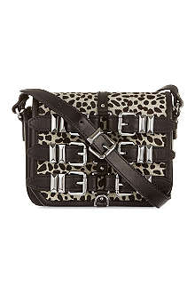 THE KOOPLES Ponyskin cheetah satchel