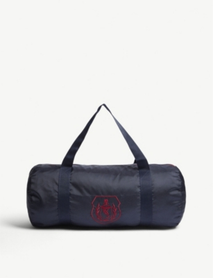 THE KOOPLES SPORT Crested Sports Bag in Navy