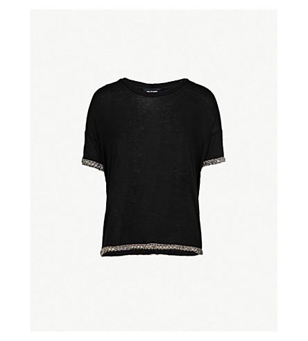 THE KOOPLES 点缀修剪平纹针织面料 T 恤 (Bla01