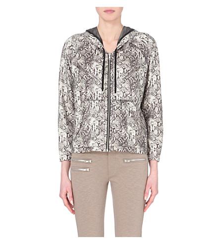 THE KOOPLES Lightweight python-print jacket (Ecru black