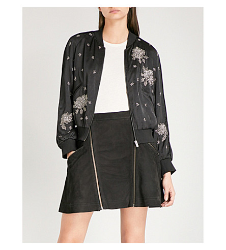 THE KOOPLES Embellished satin bomber jacket (Bla01