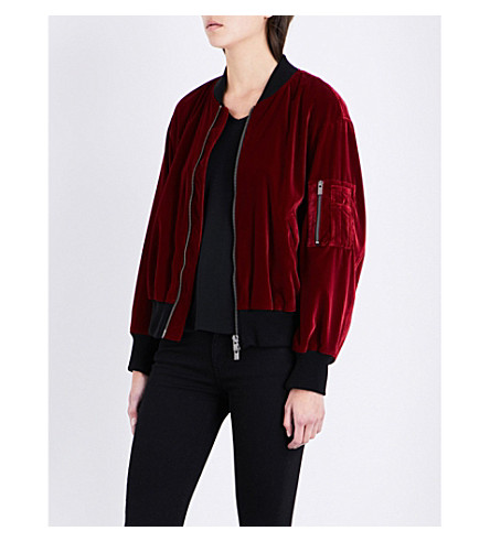 THE KOOPLES Oversized velvet bomber jacket (Red08