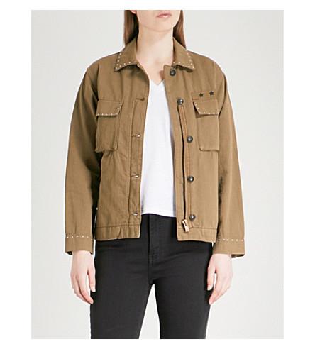THE KOOPLES Stud detail military cotton blend jacket (Kak10