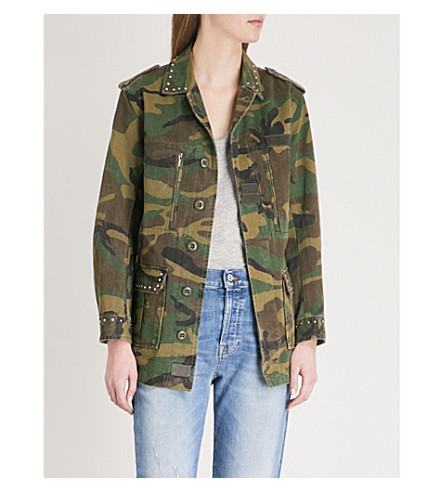 THE KOOPLES Camouflage print stud detail jacket (Kak10