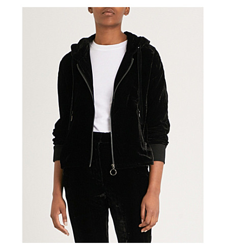 Cheap Sale Discount Clearance Marketable THE KOOPLES Hooded velvet jacket Bla01 All Size G8rgecj