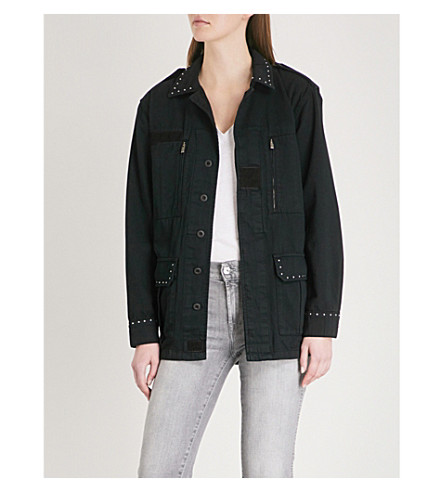 THE KOOPLES Stud detail cotton jacket (Bla01