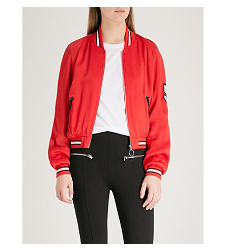 THE KOOPLES Hollywood satin bomber jacket (Red01