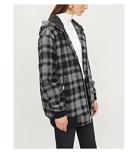 THE KOOPLES 格纹羊毛混纺连帽夹克 (Bla02