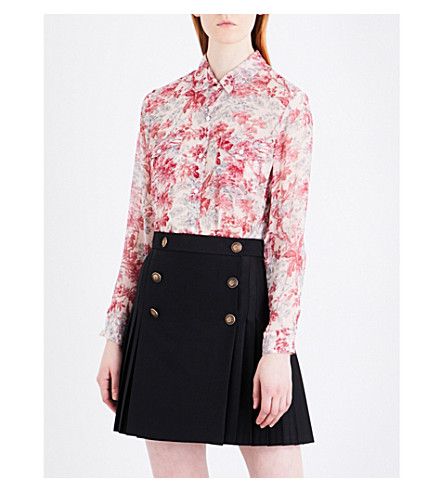 THE KOOPLES Lili of the Valley silk shirt (Ecr23