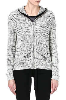 THE KOOPLES SPORT Marl hooded cardigan