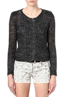 THE KOOPLES Marl knitted blouson-style cardigan
