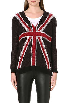 THE KOOPLES Union Jack knitted cardigan