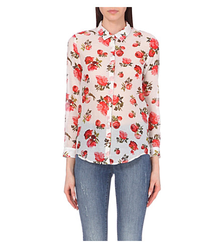 Shipping Outlet Store Online The Kooples Printed Button-Up Top Huge Surprise Sale Online Clearance Original Cheap Sale Very Cheap DMXOrRd