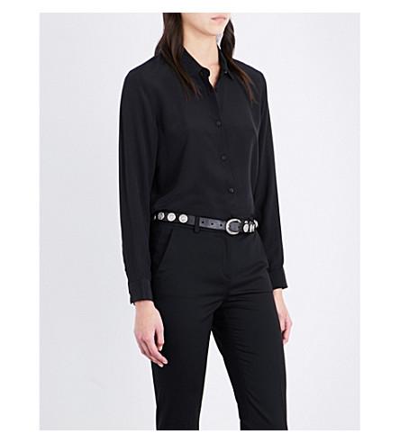 THE KOOPLES Boyfriend-fit silk shirt (Bla01
