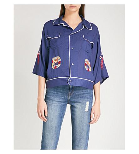 THE KOOPLES 日本-绣花 volle 衬衫 (Nav01