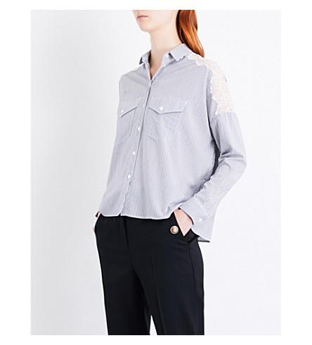 THE KOOPLES Stripe-print woven shirt (Blu68