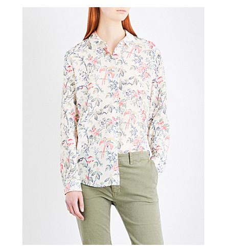 THE KOOPLES 植物印花丝绸-绉衬衫 (Kak14