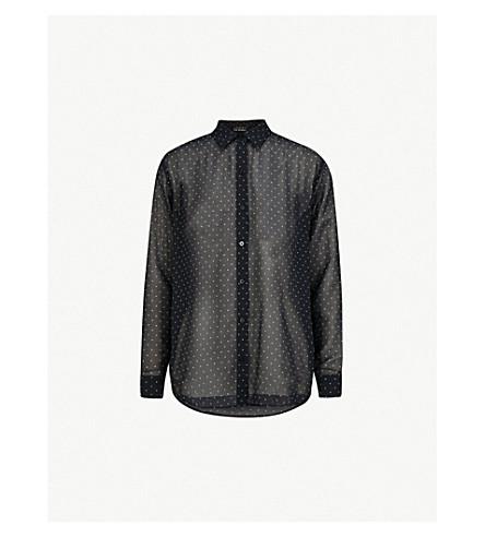 THE KOOPLES Polka dot-print chiffon shirt (Blu01