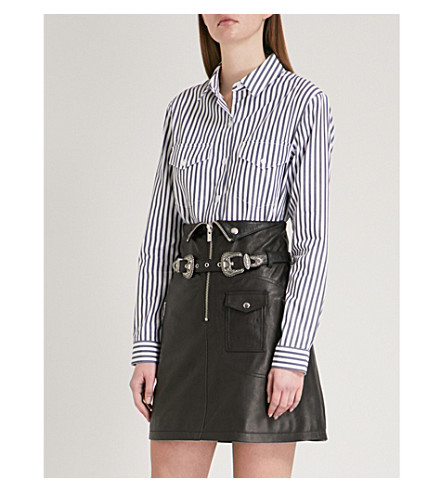 THE KOOPLES Striped cotton shirt (Bla06