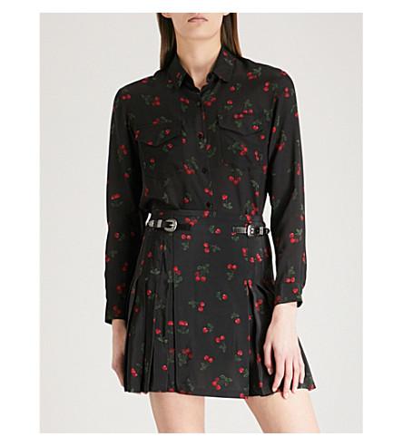 THE KOOPLES Cherry-print silk shirt (Bla01