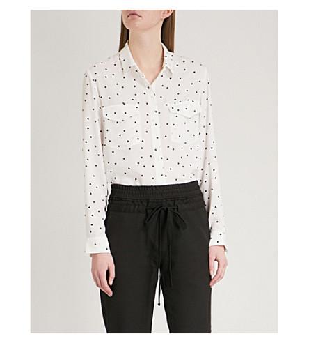 THE KOOPLES Queen of Hearts-print chiffon shirt (Ecr01