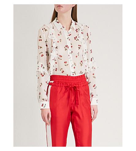 THE KOOPLES Cherry-print silk shirt (Ecr01
