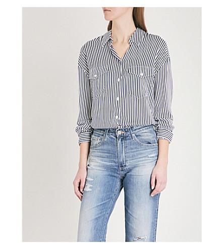 THE KOOPLES Striped patch pocket shirt (Nav13