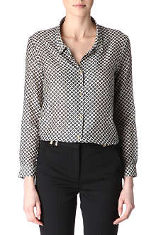 THE KOOPLES Printed silk and cotton shirt