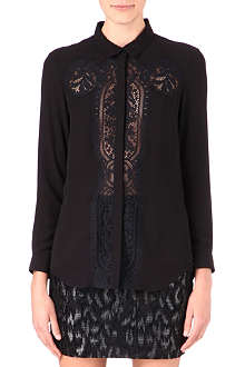 THE KOOPLES Lace-panel shirt