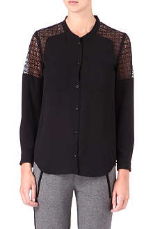 THE KOOPLES SPORT Lace-panel shirt