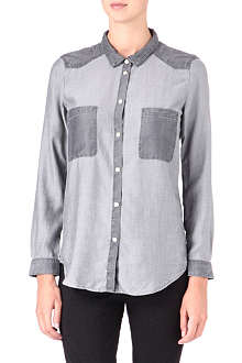 THE KOOPLES SPORT Two-tone denim shirt