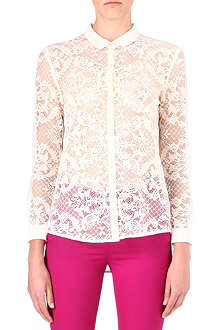 THE KOOPLES Lace-front shirt