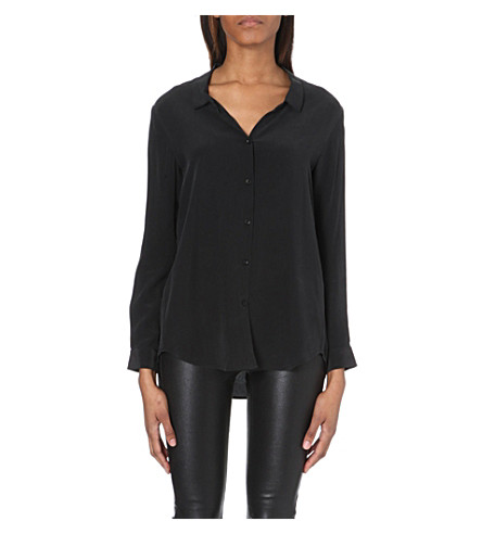 THE KOOPLES Silk boyfriend shirt (Black