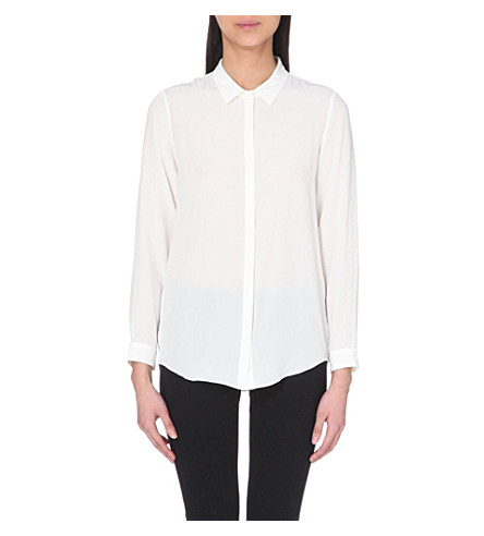 THE KOOPLES Silk crest-button shirt (White