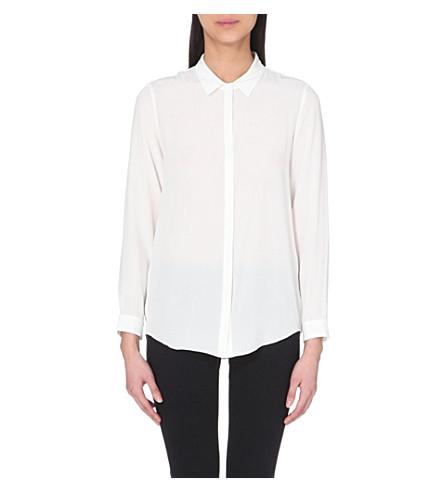 THE KOOPLES 丝绸纽扣衬衫 (白色