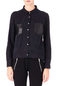 THE KOOPLES SPORT Leather-pocket shirt