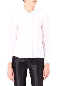 THE KOOPLES Pleated-placket silk shirt