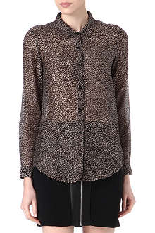 THE KOOPLES Leopard-print shirt