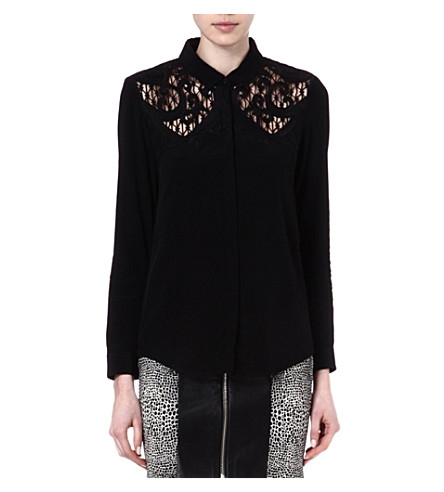 THE KOOPLES Baroque embroidered shirt (Black