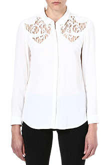 THE KOOPLES Flowing embroidered boyfriend shirt